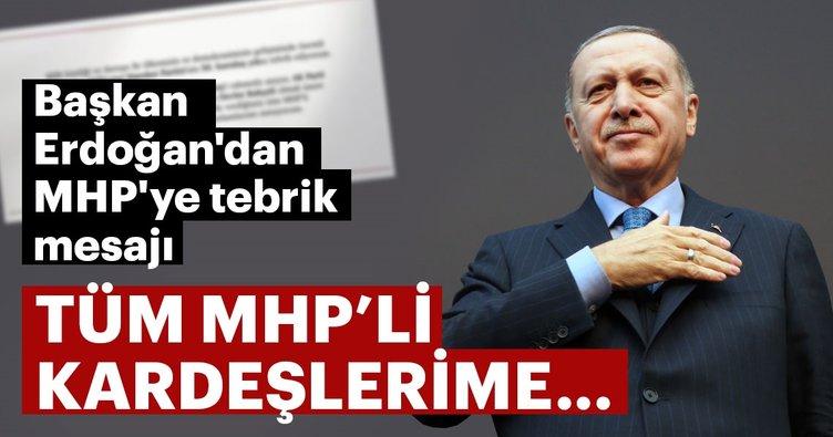 Başkan Erdoğan, MHP'yi kutladı