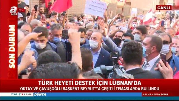 Son Dakika   Beyrut'ta Türk heyetine yoğun ilgi! Türk Bayraklarıyla karşıladılar..   Video