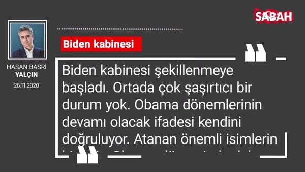 Hasan Basri Yalçın 'Biden kabinesi'