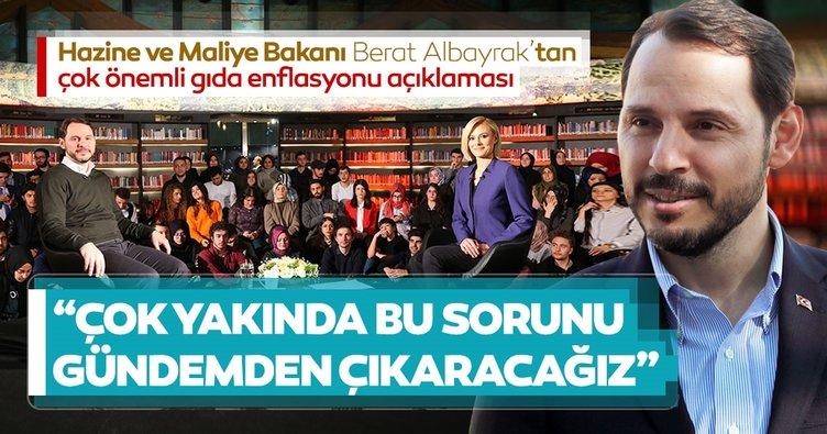 Son dakika: Bakan Berat Albayrak'tan çok önemli enflasyon açıklaması