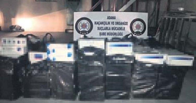 Gümrük kaçağı 9 bin paket sigara yakalandı
