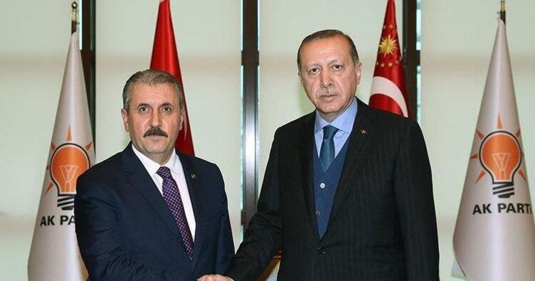 Başkan Erdoğan'dan Destici'ye bayram telefonu