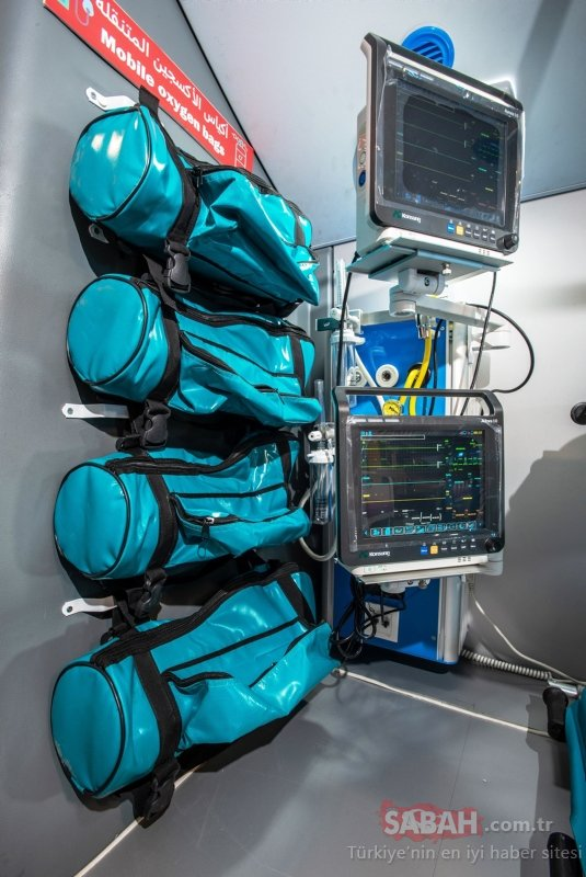 Dünyanın tam donanımlı, ilk mobil hastane otobüsü hastanesi görenleri şaşırttı