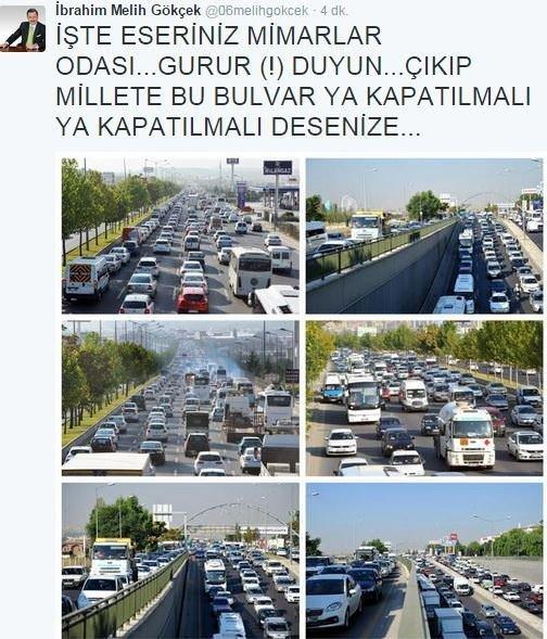 Ankara Bulvarı tamamen trafiğe kapatıldı