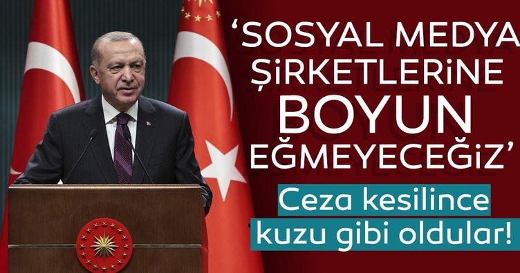 Başkan Erdoğan'dan son dakika sosyal medya açıklaması geldi! Baskılarına boyun eğmeyeceğiz