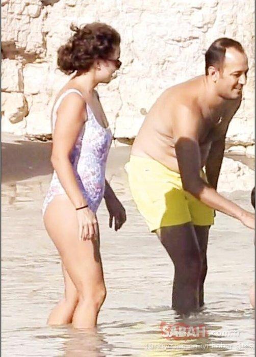 Gupse Özay ile Barış Arduç plajda aşk tazeledi! Gupse eşi Barış'ı öpmeye doyamadı!