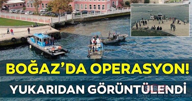 Boğaz'da kaçak midye avcılarına operasyon...
