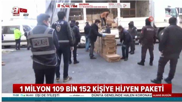 65 üstü vatandaşlara hijyen paketi dağıtıldı