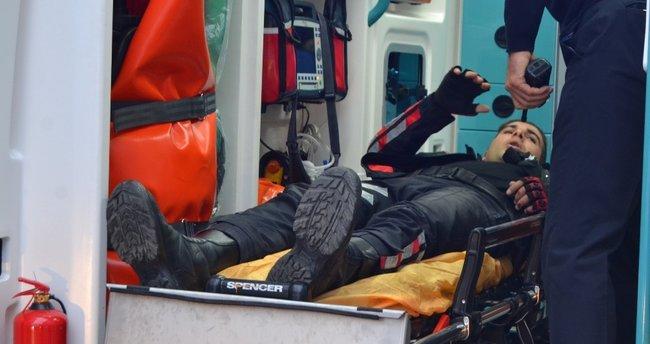 Yunus ekibine otomobil çarptı: 1'i ağır 2 polis yaralı