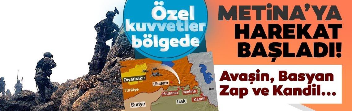 Türk askeri Metina'da! Kara harekatı başladı! Kandil, Zap, Avaşin ve Basyan da ateş altında...
