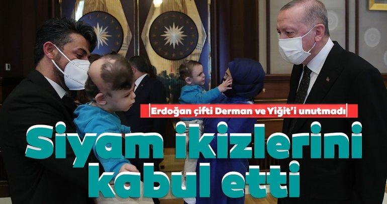 Son dakika: Başkan Erdoğan siyam ikizleri Derman ve Yiğit'i unutmadı! Külliye'de buluştular...