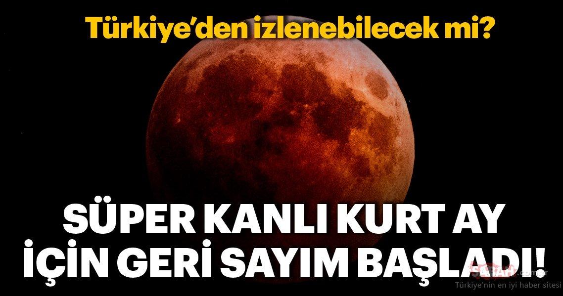 2019un Ilk Ay Tutulması Süper Kanlı Kurt Ay Için Geri Sayım Başladı