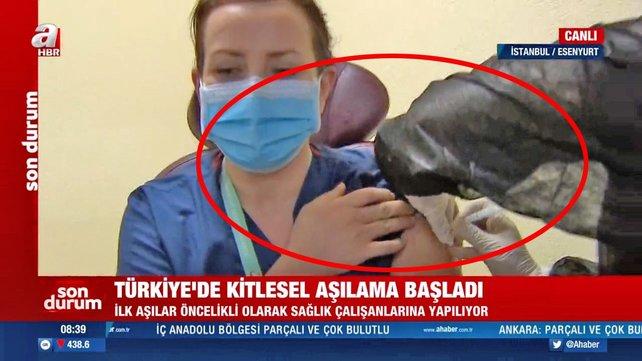 Son dakika: İstanbul'da tarihi anlar! Canlı yayında kitlesel kornavirüs aşısı uygulaması...  | Video