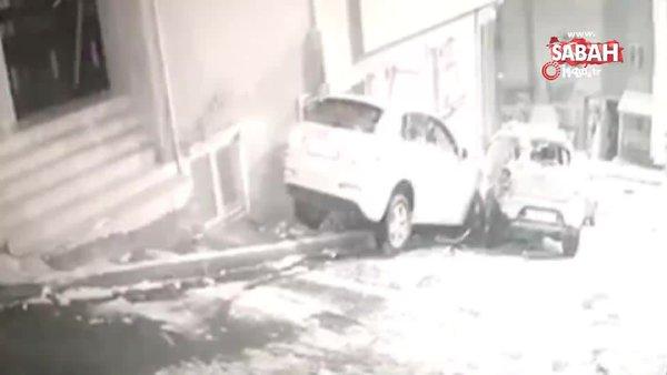 İstanbul'da film sahnelerini aratmayan kaza kamerada | Video