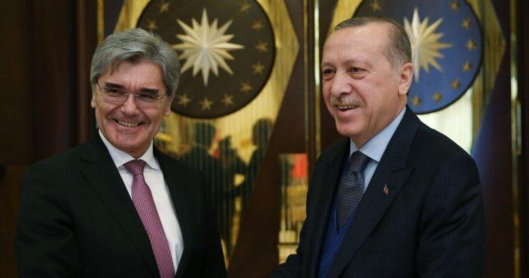 Cumhurbaşkanı Erdoğan, Siemens CEO'su Kaeser'i kabul etti