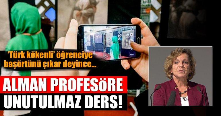 Türk öğrenciye başörtünü çıkar diyen profesöre unutulmaz ders!
