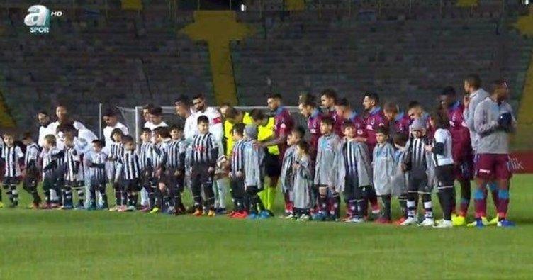 Trabzonsporlu futbolculardan Altay maçı öncesi alkışlanacak hareket