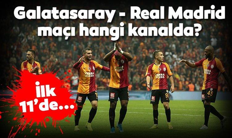 Galatasaray Real Madrid maçı hangi kanalda? Galatasaray Real Madrid maçı ne zaman, saat kaçta canlı izlenecek? İlk 11'ler belli oldu!