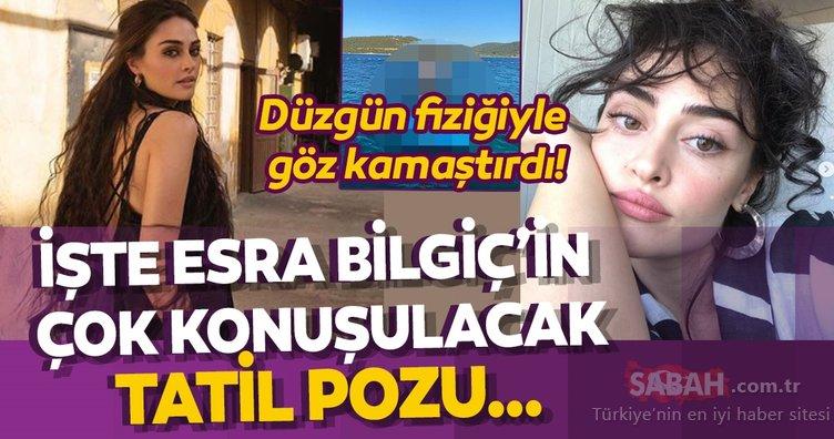 Ramo'nun yıldızı Esra Bilgiç bikinisiyle yaktı geçti… Tatil pozu sosyal medyayı salladı!