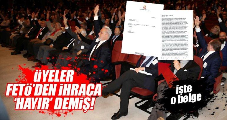 İşte Dursun Özbek'in açıkladığı o FETÖ belgesi!