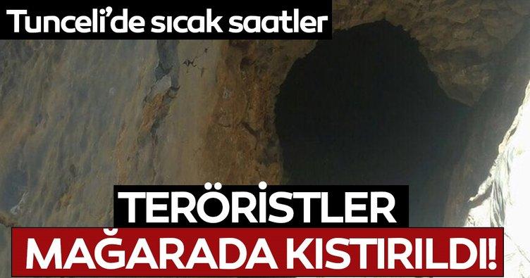 Son dakika: Tunceli'de 5 terörist mağarada kıstırıldı