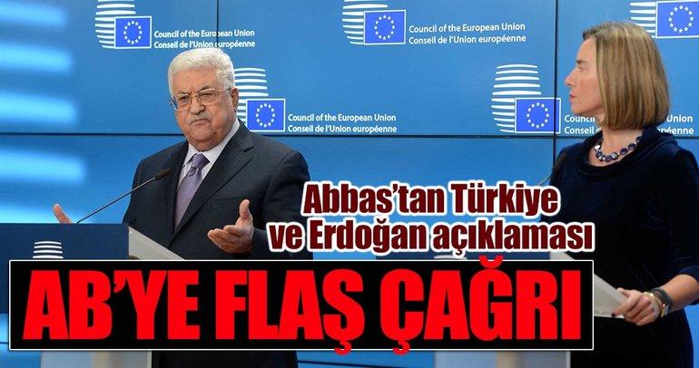 Abbas'tan AB'ye Filistin'i hızla tanıyın çağrısı