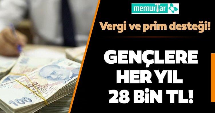 Vergi ve prim desteği! Gençlere her yıl 28 bin lira
