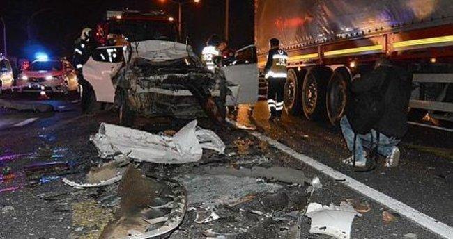 Turgutlu'da feci kaza: 1 ölü