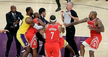 NBA'de büyük kavga! Yumruklar konuştu...
