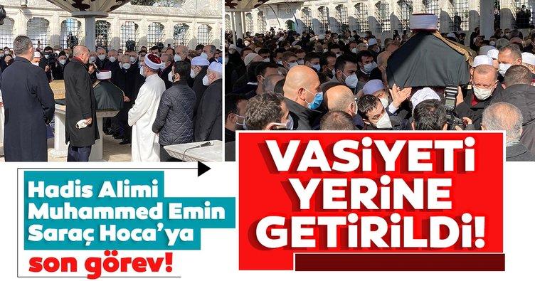 Son dakika: Hadis alimi Muhammed Emin Saraç son yolculuğuna uğurlanıyor!