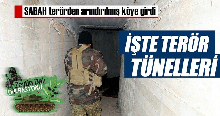 İşte terör tünelleri