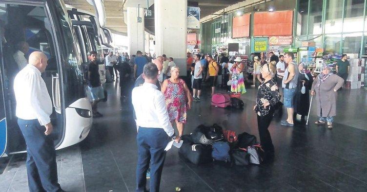 Tatilciler için ek otobüs seferleri