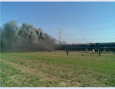 İsrail'de tren yangını