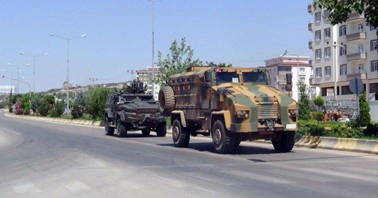 Suriye sınırında bulunan Kilis'te zırhlı araç yoğunluğu yaşanıyor