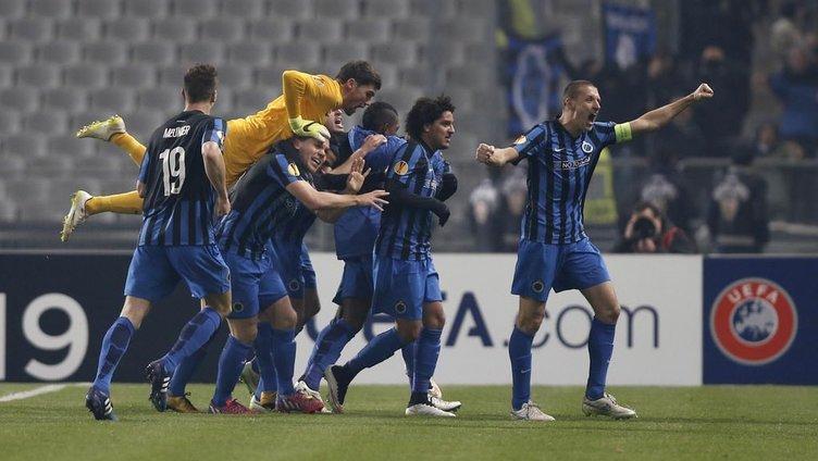 Beşiktaş Brugge maçından kareler