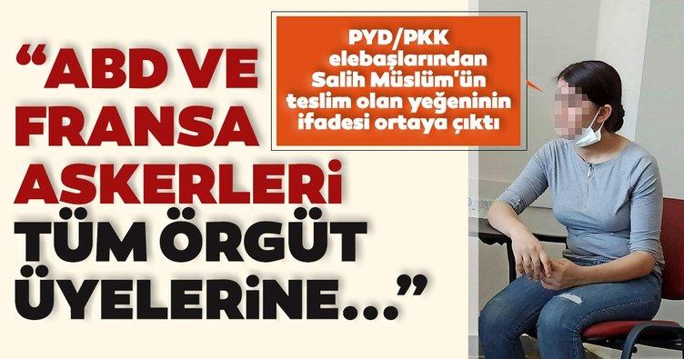 PYD/PKK elebaşlarından Salih Müslüm'ün teslim olan yeğeninin ifadesi ortaya çıktı