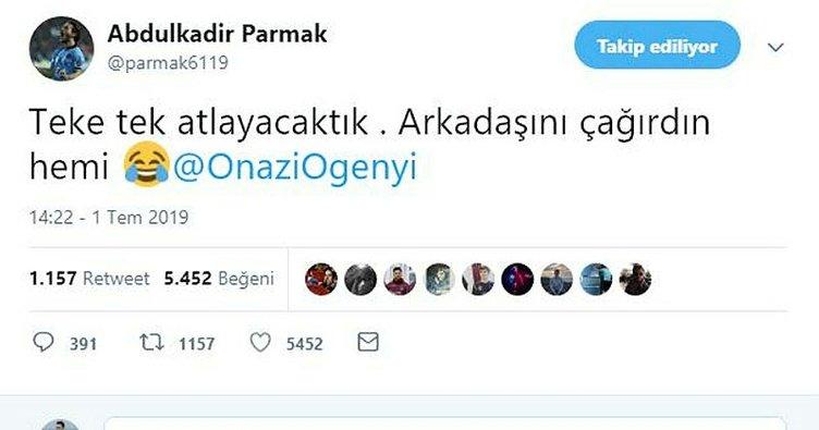 Abdulkadir Parmak'tan takım arkadaşları Onazi ve Mikel'e esprili gönderme