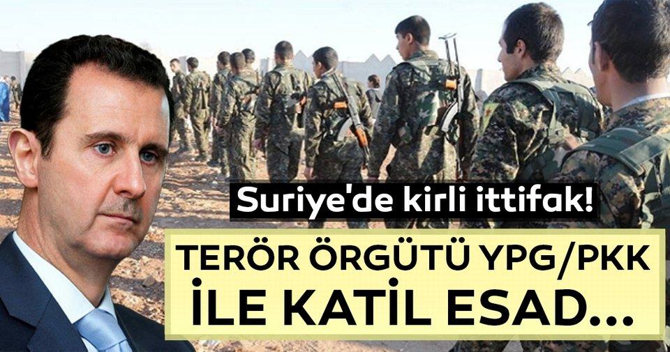 Suriye'de kirli ittifak!... Terör örgütü YPG/PKK ile Esad arasında...