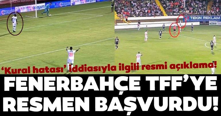 Son dakika: Fenerbahçe'den 'kural hatası' açıklaması! TFF'ye resmen başvuru...