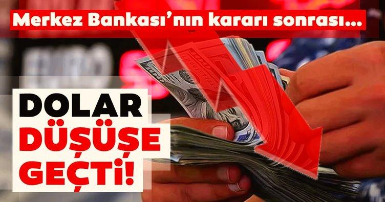 Merkez Bankası'nın faiz kararı sonrası dolar düşüşe geçti