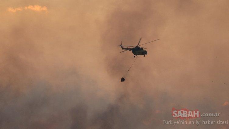Son dakika: Çanakkale'deki yangına gün ağarınca havadan müdahale başladı!