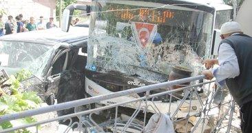 Konya'da işçi servisi ile belediye otobüsü çarpıştı: Çok sayıda yaralı var