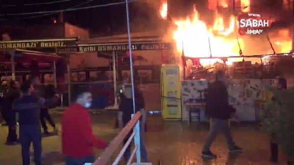 Bursa'da antikacı yangınında baba ve oğluna meydan dayağı!