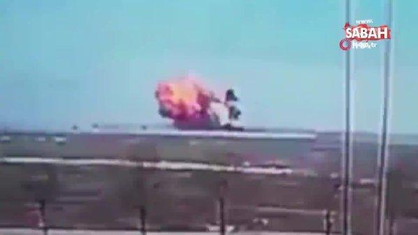 Konya'da uçağın düşme anına ait görüntüler ortaya çıktı   Video