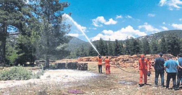 Korkuteli orman yangınlarına hazır