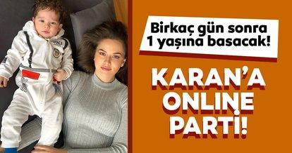 Burak Özçivit ve Fahriye Evcen'in oğulları Karan'ın 1'inci yaşına online parti!