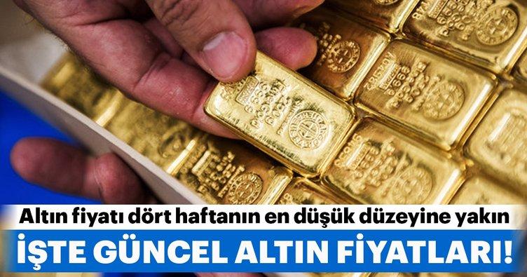 Altın fiyatı dört haftanın en düşük düzeyine yakın! İşte güncel altın fiyatları