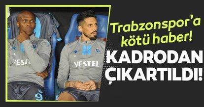 Trabzonspor'a Beşiktaş derbisi öncesi iki kötü haber!