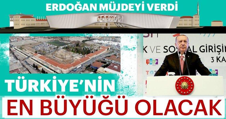 Erdoğan müjdeyi verdi: Rami Kışlası Türkiye'nin en büyük kütüphanesi olacak