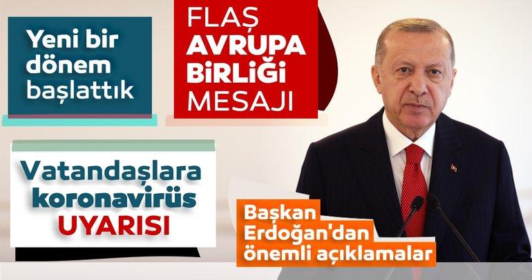 Son dakika haberi: Başkan Erdoğan'dan Avrupa Birliği mesajı